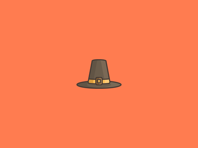 November 24: Thanksgiving holiday fall buckle thanksgiving hat pilgrim icon daily icon diary 365cons