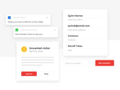 Sneak Peek 👀 envoy ui simplified form buttons shadow fields text notification email arrow web
