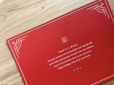 Holiday Card 2019 letterpress wrap geometric letter holiday hannukah christmas card