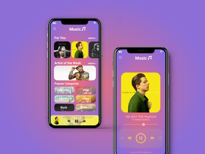 Music Player App UI app design music player ui music player