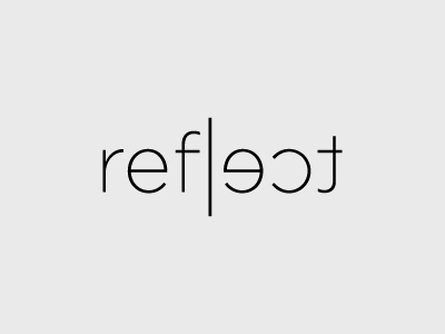 Reflect  idea logo reflect brand mirror mark symbol identity logotype