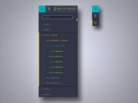 Navigation/Table of content ui ux level expand collapse content navigation