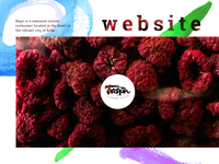 Seasonal cuisine restaurant website