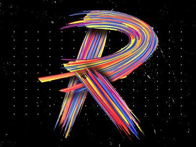 Letter R web cover spotify art artwork digital typo lettering detail