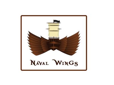Naval wing icon logo flying ship naval logo naval classical vintage font vintage logo pirate font pirate ship wing logo wing ship logo ship icon logo icon iconmark pictorialmark