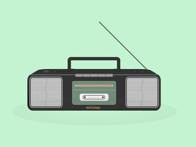 tape recorder illustration art 90s illustration old media music tape recorder 90s kid 90s media 90s tape mp3 illustration