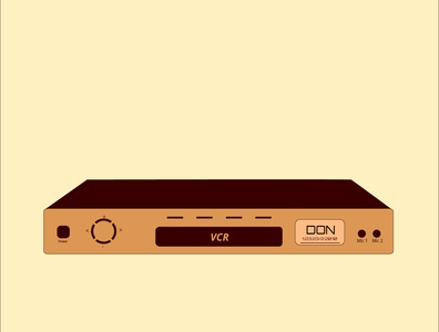 VCR illustration design illustration illustraion old days memory 90s kid 90s video player video player vcr