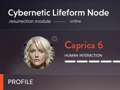 Re.Module ui battlestar galactica caprica cylon user interface dashboard