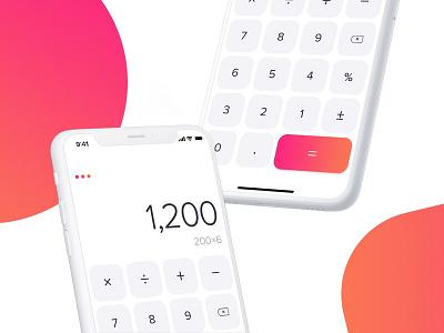Daily UI #9 interface ux mobile app ios iphone x ui daily ui calculator