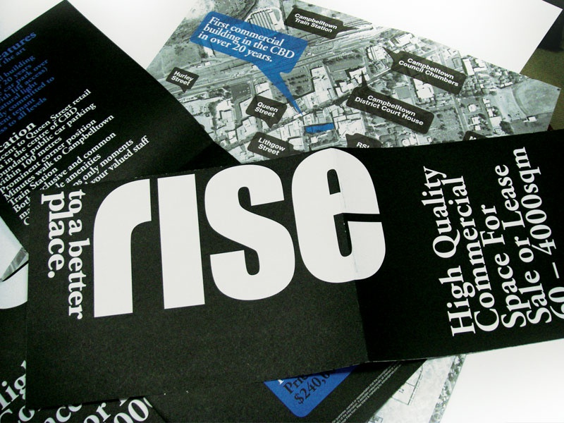 Rise Commercial Property Flyer by Alice Himfen on Dribbble