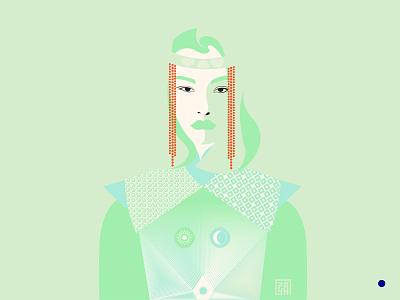 Mongolian Khatan design illustration art illustration vectorart vector artwork art illustrator