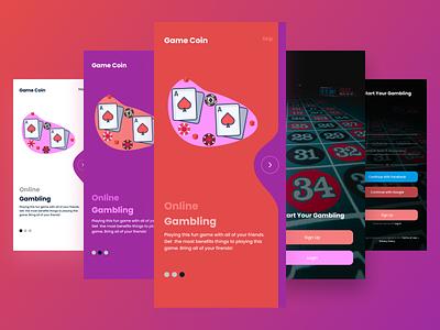 Game Coin App product prototype games game poker uiux ui design design ux ui 001 dailyui