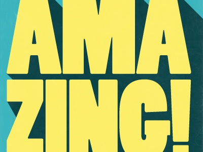 You are Amazing! design poster inspiration typography