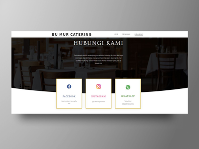 Cateringbumur Website web wordpress web developer web design contact fried chicken catering services companyprofile catering