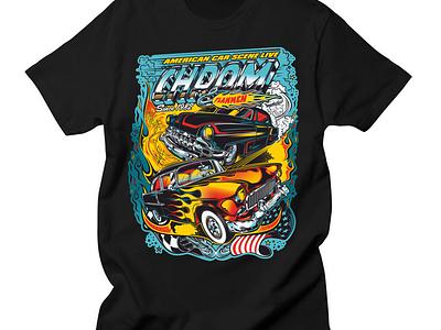 Design Chrom & Flammen kustom kulture american cars chrom  flammen chrome pinstripping flames rocknroll rockabilly v8 chevy hot-rod