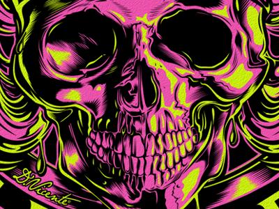 LIVE FAST OR DIE skull kustom-kulture dickies