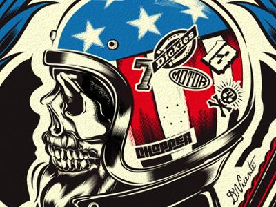 AMERICAN CHOPPER chopper motorcycle skull kustom-kulture dickies