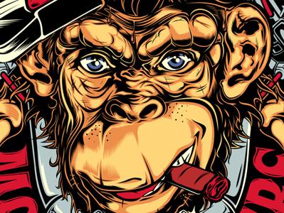 MONKEY RIDERS illustation biker monkey monkey logo bike ride bike logo
