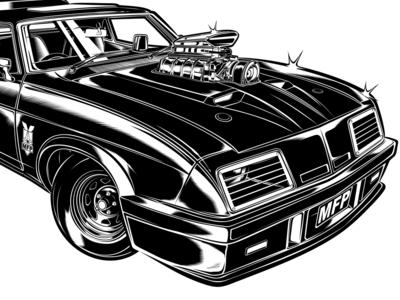 Model XB GT PURSUIT SPECIAL david vicente design illustration interceptor mad max ford d.vicente kustom kulture