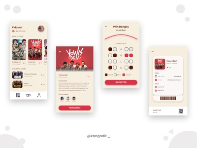 Dashboard Screen Bioskop Mojokerto mobile movieapp dashboard dashboardapp ux ui appdesign moviedesign appmovie design2020 design movie branding booking bioskop app mobile design