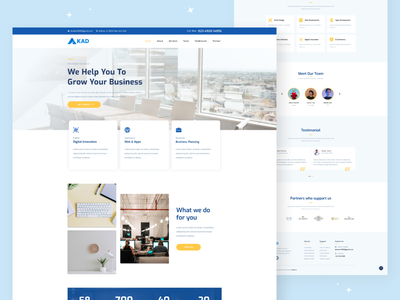 Company Profile - Landing Page branding uiux hot new landing pages website company uxdesign uidesign trend2021 portfolio company company profile landing page design2021 ux design ui