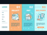 Online shopping onboarding app design