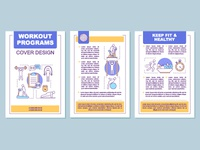 Workout programs brochure template layout