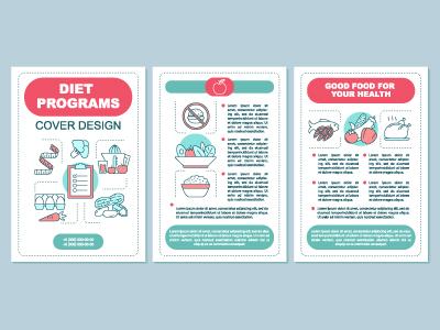 healthy nutrition brochure template layout by bsd studio dribbble