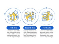 Online dating vector infographic template