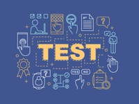 Online test word concepts banner