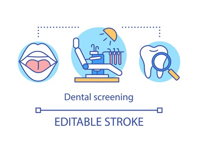 Dental screening concept icon