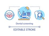Dental screening concept icon