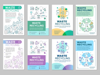 Waste management brochure template layout environmental ecology eco flyer management recycling waste layout brochure illustration concept vector vector graphics icongrapher icongraphy web graphics icondesign icon illustration icon creation icon