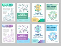 Waste management brochure template layout