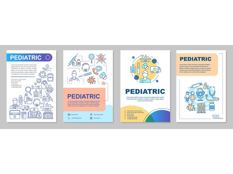 Pediatric brochure template layout kids healthcare medicine pediatric pediatrics flyer layout brochure vector graphics icongrapher icongraphy web graphics icondesign icon illustration icon creation vector illustration design icon concept