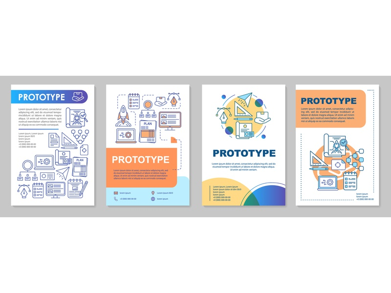 Prototype brochure template layout presentation business production product prototype flyer layout brochure vector graphics icongrapher icongraphy web graphics icondesign icon illustration icon creation vector illustration design icon concept