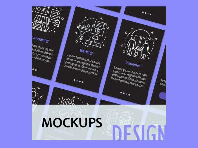 Corporate mockups design concept