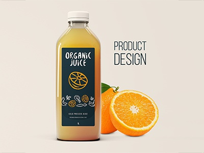 An attractive juice design icon illustration icon creation icondesign bottle print product hand drawn icon typography product design orange organic juice logo branding idea business illustration design concept
