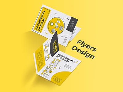 Educational program flyer design concept