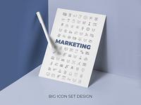 Marketing icons set design concept