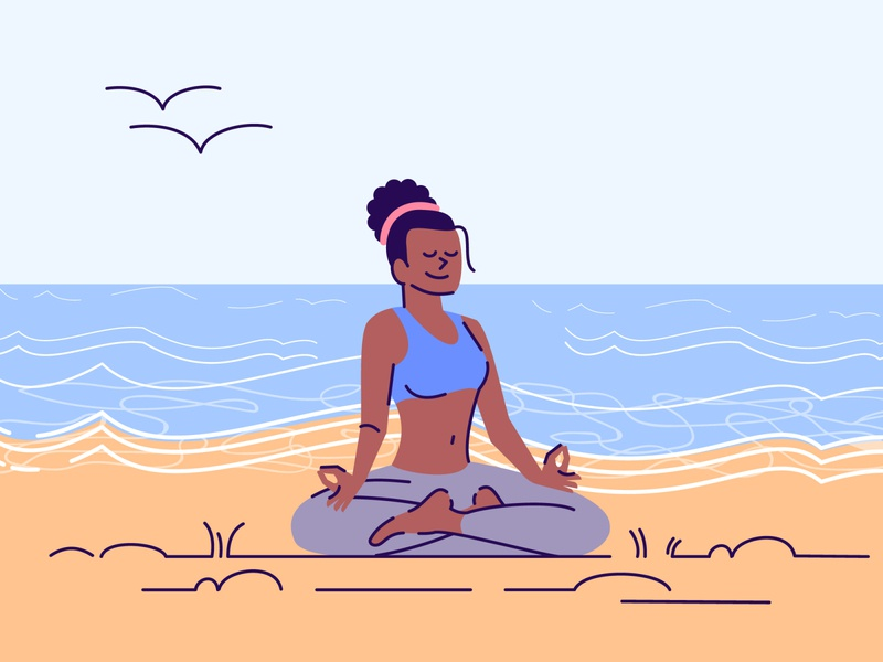 What is your favorite yoga practice? concept flat lotus hobby healthy stress smile training stretching pilates padmasana meditate fitness activity cartoon character african asana practice yoga
