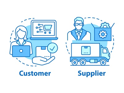 Start your dropshipping business! icongraphy web graphics icondesign icon illustration icon creation online network marketing goods buy internet delivery concept icon blue order supplier customer business dropshipping
