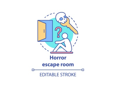 Do you like quests? How about some mystery? escape mystery solving strategy thinking film adventure icon apocalyptic historical quest concept editable freetime game action criminal horror movie escape room