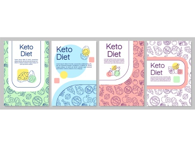 Keto diet - a way to empower your brain! ketogenic notion metabolism ketone lifestyle healthyfood health dietology concept food meal nutrition brain healthy diet keto flyer layout brochure