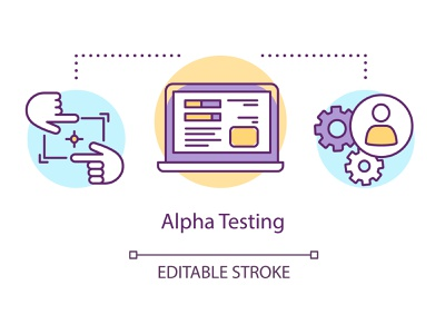 How many stages are enough to test some new software perfectly? verification technology software programming process problem functionality development computer code check qa test beta testing alpha vector concept