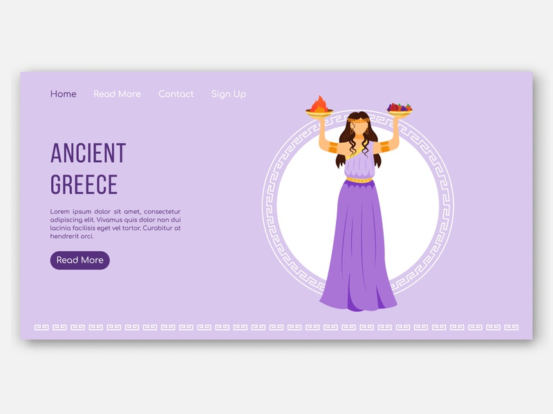 Which myth of Ancient Greece do you like the most? pantheon history web graphics webdesign banner character hestia zeus goddess gods vector design concept greek ancient greece ancient
