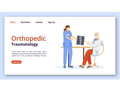 How do you treat private doctors? mockup medicine medical html hospital character cartoon banner care idea design concept website design website dentist orthopedic clinic doctor