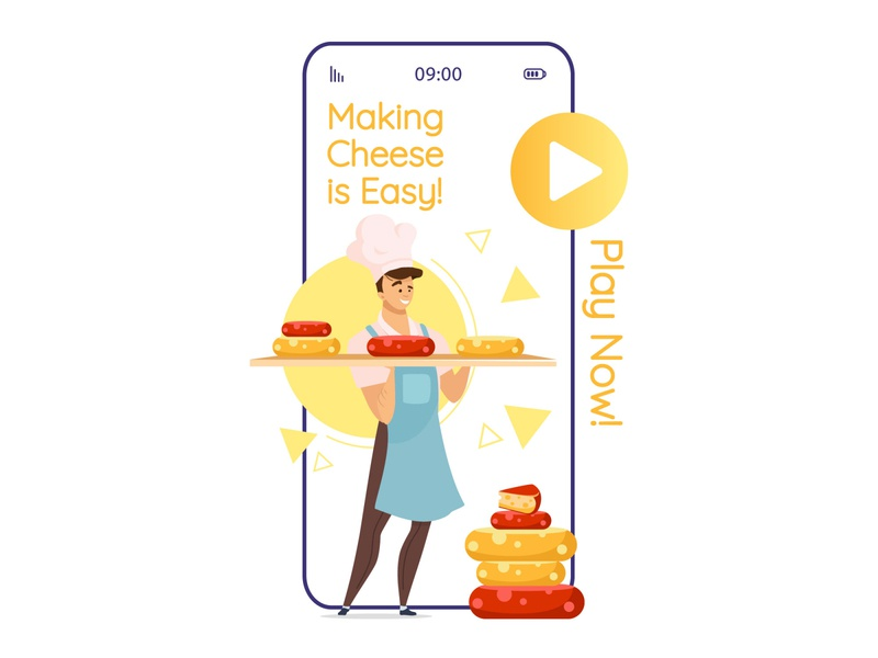 Do you wanna play? :) beer cheese characters cartoon mobile app design video game play button professional design concept smartphone ui mobile interface screen app