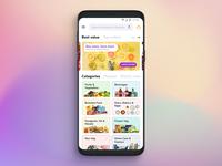 Home Screen - Grocery App