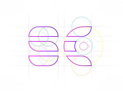 SC logo design grid logo circuler logo design process mark icon symbol creative modern mobile cases concept art design brand logo branding identity logo